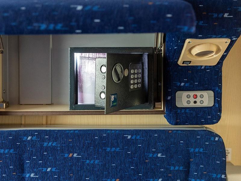 Новые купейные вагоны оборудованы сейфами