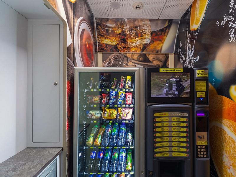 Вендинговые автоматы в новых купейных вагонах