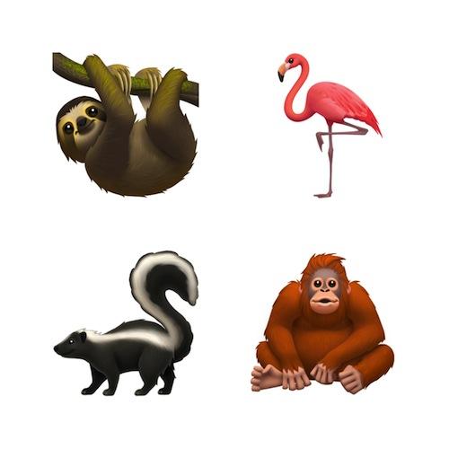 Новые эмодзи животных