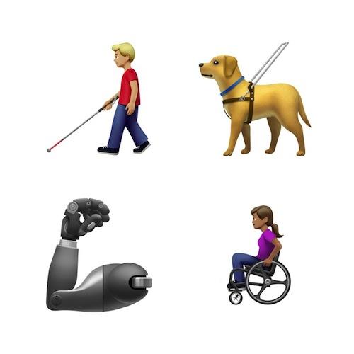 Эмодзи, представляющие людей с ограниченными возможностями